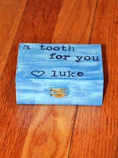 Personalized Blue Shabby Chic Rustic Tooth Fairy Box by OhSoFooFoo, $12.00