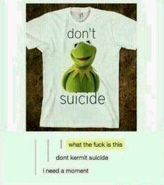 Don't KERMIT suicide!! :')