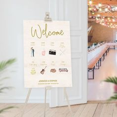 Order of the Day Wedding Sign . A personalised order of the day sign to welcome your wedding guests.   #wedding #weddingsign #orderoftheday Order Of The Day Wedding, Our Wedding, Guestbook, Warehouse Wedding, Wedding Timeline, Seating Chart Wedding, Table Cards, Personalized Signs, Make Design