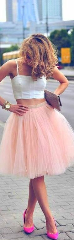 beautiful tulle skirt and crop top