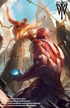 Iron spider vs iron man