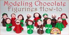 Video tutorial with info and instructions on how to sculpt modeling chocolate figurines by Wicked Goodies Cake Icing, Fondant Cakes, Cupcake Cakes, Cupcakes, Cake Decorating Techniques, Cake Decorating Tutorials, Decorating Cakes, Gingerbread House Designs, Gingerbread Village