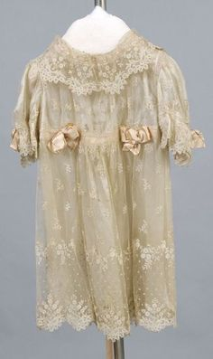 Antique lace baby gown