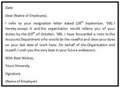 Resignationletter help resignationlett on pinterest employer resignation letter to employee employee resignation letter sample 13 employee resignation letter templates free sample example spiritdancerdesigns Image collections