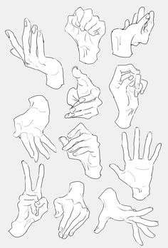 two hand reference Drawings Hand Drawing Reference, Drawing Reference Poses, Drawing Tips, Drawing Hands, Female Pose Reference, Gesture Drawing, Anatomy Reference, Anatomy Sketches, Anatomy Art