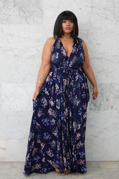 "First Look: Zelie For She Vintage Love Collection http://thecurvyfashionista.com/2017/04/zelie-for-she-vintage-love/ Bold, brilliant and blue, stand out from the crowd in the ""Cherry Blossom"" dress from Zelie for She! Looking for the newest from Los Angeles plus size designer, Zelie For She?  Get romantic with their latest collection, Vintage Love."