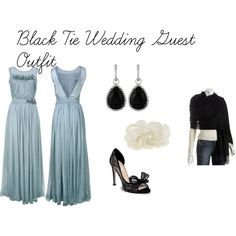 black tie wedding guest outfit