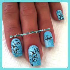 Nail Art  Teal nails