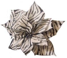 Diva Safari and Zebra Print Flower Clip On Christmas Ornament