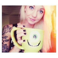 Rose half sleeve and an awesome monsters inc mug.