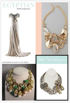 Bib necklaces offer the vibe of a  Cleopatra style bride