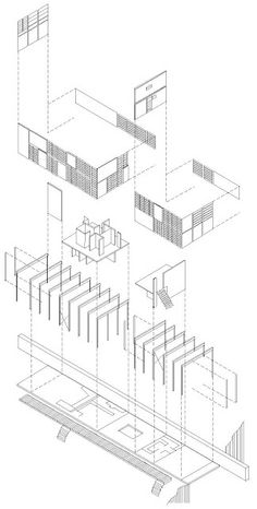 Eames House: Exploded Axonometric of Eames House