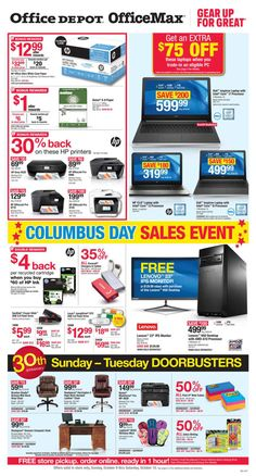 Office Depot / OfficeMax Ad October 2 - 8, 2016 - http://www.olcatalog.com/office/office-depot-officemax-ad.html