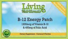 Living Nutritionals B12 Patches (1200mcg) 1-2 Month Supply