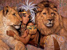 fantasy art african lions mythical 1600x1200 wallpaper Art HD Wallpaper
