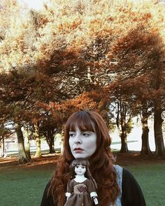 🍁🍂🌰. . . #dolls #porcelaindoll #dollscollection #gingergirl #gingerhair #redhead #vsconature #vsco