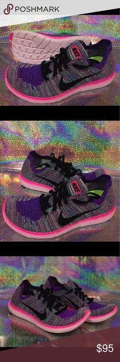 Nike WMNS Free RN Flyknit - Brand: Nike - Style: Nike WMNS Free RN Flyknit - Condition: Brand New In Original Box - Style Code: 831070-604 - Size: Various Sizes  - Color: Pink Blast / Black-Racer Blue Rose Blast - Please Purchase With Confidence! - All shoes are acquired from Nike or certified retailers of Nike ONLY! - We only work with 100% authentic shoes of A+ quality. - PLEASE CONTACT US WITH ANY QUESTIONS OR CONCERNS REGARDING THIS PRODUCT. Nike Shoes Sneakers