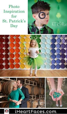 St. Patrick's Day Photography Inspiration on I Heart Faces Photography Blog. iHeartFaces.com
