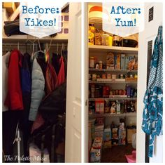 Creating An Organized Pantry From A Hall Closet