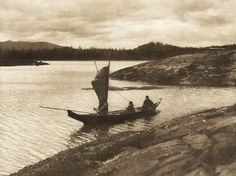 Sailing - Qagyuhl (The North American Indian, v. X. Norwood, MA: The Plimpton Press, 1915)   by Edward Sheriff Curtis from USC Digital Library