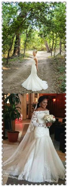 Wedding Dress Trends from Spring 2019 Bridal,Wedding dresses that fit your style and budget! Cheap White Wedding Dresses, Rustic Bridesmaid Dresses, Wedding Dresses Under 100, White Lace Wedding Dress, Bridesmaid Dresses Online, Rustic Wedding Dresses, Wedding Dress Trends, Modest Wedding Dresses, Mermaid Wedding