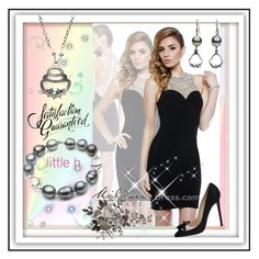 """Little h Jewelry"" by lila2510 ❤ liked on Polyvore featuring Christian Louboutin, pearljewelry and littlehjewelry"