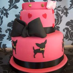 Gorgeous Hot Pink Chihuahua Cake for the lovely Louise at Diva Dogs, Essex.