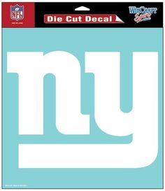 New York Giants Decal 8x8 Die Cut White