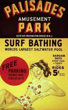 Palisades Amusement Park from Palisades Park, NJ - 1898 to 1971