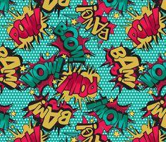 Comic Book fabric by season_of_victory on Spoonflower - custom fabric