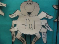 Ms. Cox's Inspired Teaching: Prefix and Suffix Spiders