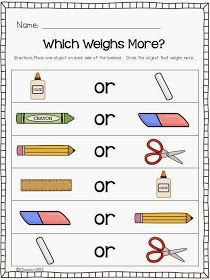 Keeping Up With The Kindergarteners: Let's Talk About Weight and a FREEBIE!