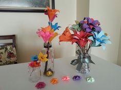 #Origamiart #origamiflowers