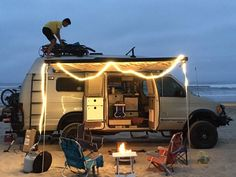 First camping trip with new Sportsmobile to Pismo beach #aluminess gear Photo cred:Alex de Ocampo