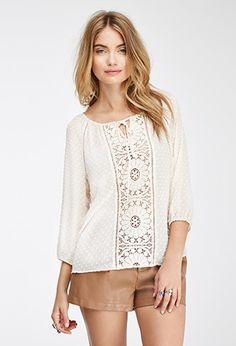 Blusa Aplique Crochet | Forever 21 Contemporary - 2000136669