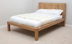 Alto Natural Solid Oak 5ft King Size Bed