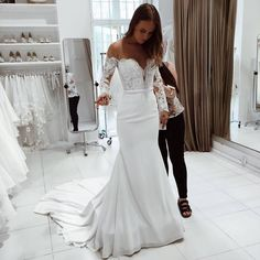 Mermaid Wedding Dresses, Lace White Wedding Dresses, White Wedding Dresses, Wedding Dresses Long, Wedding Dresses With Sleeves Wedding Dresses 2018 Wedding Dress Mermaid Lace, White Lace Wedding Dress, Wedding Dress Chiffon, Wedding Dresses 2018, Wedding Dress Sleeves, Perfect Wedding Dress, Mermaid Dresses, Bridal Lace, Bridal Dresses