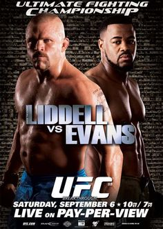 Evans KO'd Liddell to the point of being asleep!