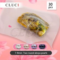 145$  Buy here - 30pcs vacuum-packed 7-8mm two whitepinklavenderblack round akoya pearls in one oyster, UPS free shipping   #buyonlinewebsite