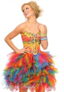 Precious Formals Rainbow Dress