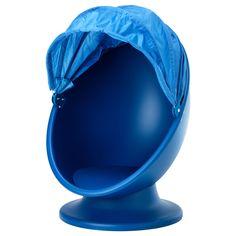 BESTELD! IKEA LÖMSK Draaifauteuil, blauw