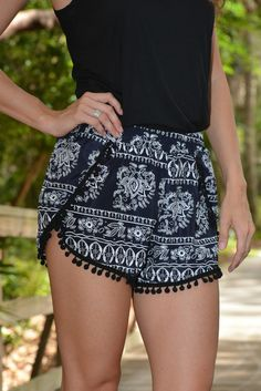 HIPPIE CHIC PomPom shorts - Shop Simply Me –boutique – www.SHOPSIMPLYME.com - #ishopsimplyme – Naples, FL