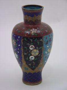 Beautiful Meiji Period Japanese cloisonne' vase   Mingei Arts