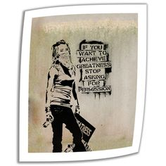 @Overstock.com - Artist: Banksy Title: Asking for Permission Product type: Unwrapped, canvashttp://www.overstock.com/Home-Garden/Art-Wall-Banksy-Asking-for-Permission-Unwrapped-Canvas/7824683/product.html?CID=214117 $28.99