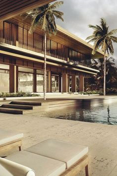 Easy And Practical Roofing Tips That You Can Use livingpursuit: Morabito Residence by Strang Architecture Tropical Architecture, Beautiful Architecture, Modern Architecture, Architecture Details, Modern Tropical House, Tropical Houses, Resort Villa, Mid Century House, Exterior Design