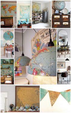 Great map/globe ideas!