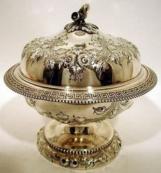 A Southern Coin Silver Butter Dish Mitchell Tyler Richmond C 1845 66 | eBay