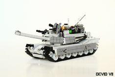 Custom built Abrams tank by Devid VII M1 Abrams, Toy Tanks, Lego Army, Lego Models, Lego Moc, Military Equipment, Cool Lego, Panzer, Lego Creations