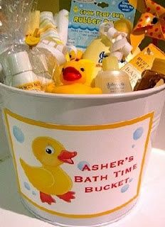 Cute baby shower gift idea. I would add the ABC line from Arbonne too.  www.formyfamily.myarbonne.com