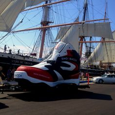 One really Big Shoe and the Star of India in San Diego